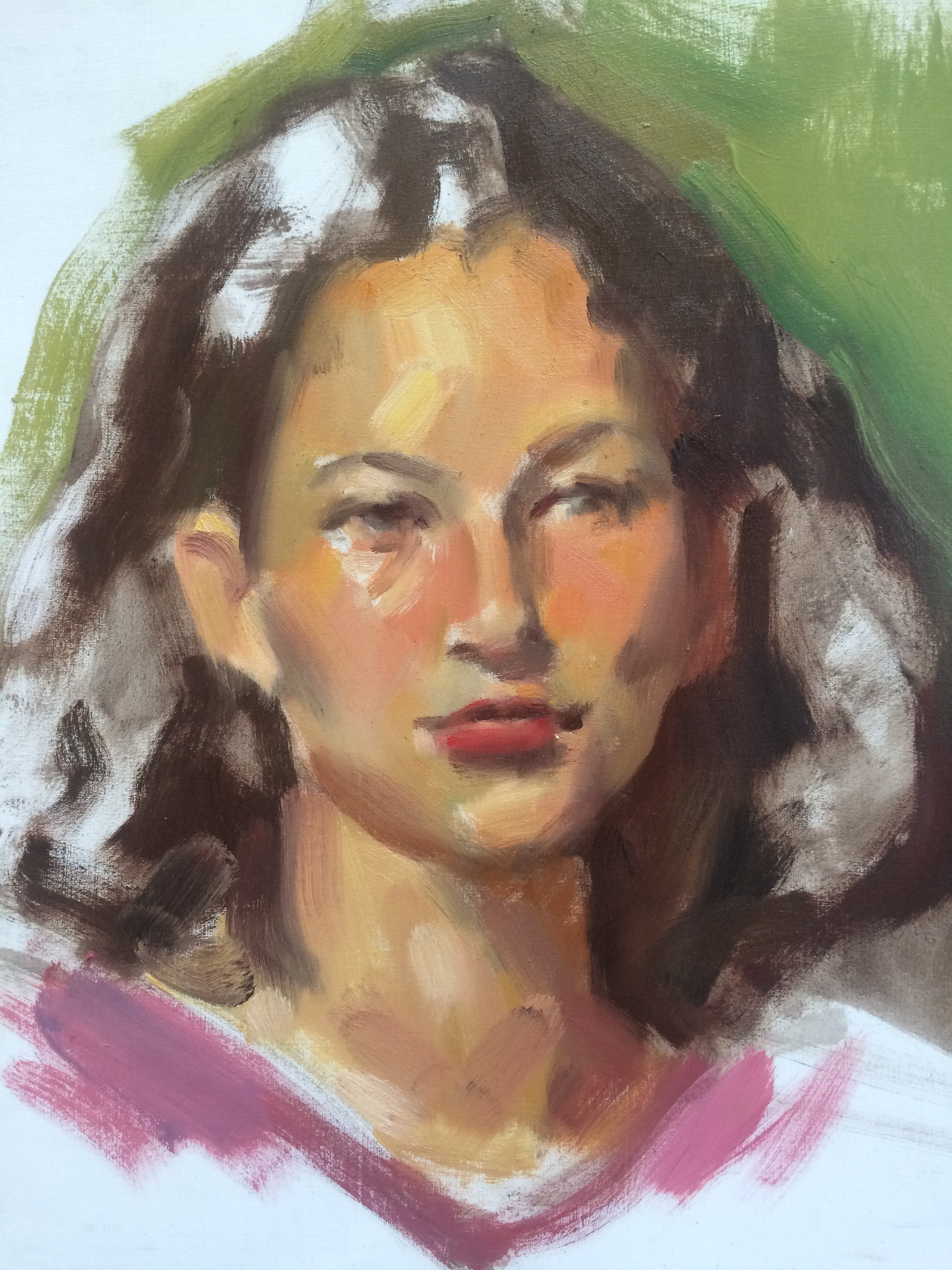 Alla Prima Portrait Painting Academy Of Realist Art October 25